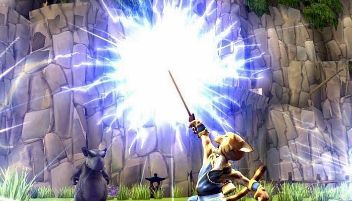 Escena del juego Legend of Kay