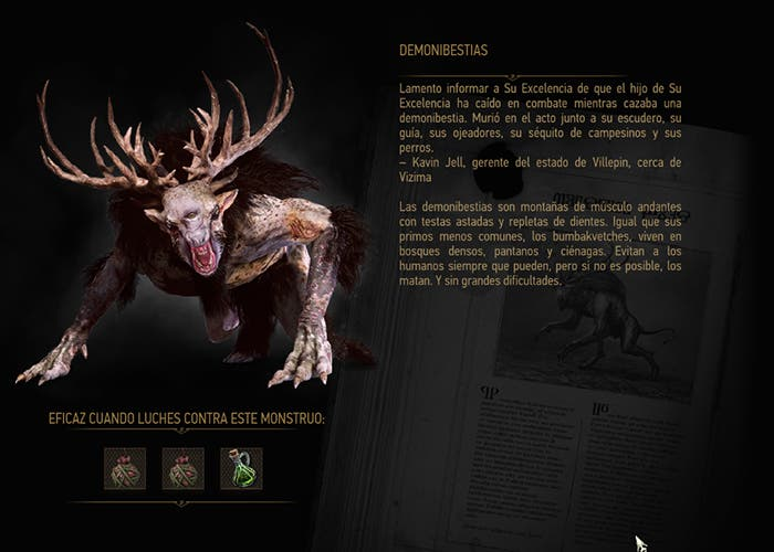 The Witcher 3 Demonibestia