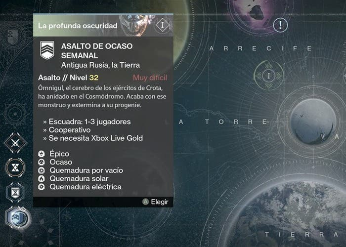 Destiny reseteo 21 julio