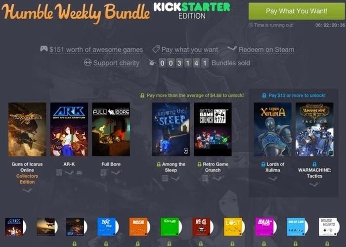 Humble Weekly Bundle Kickstarter Edition