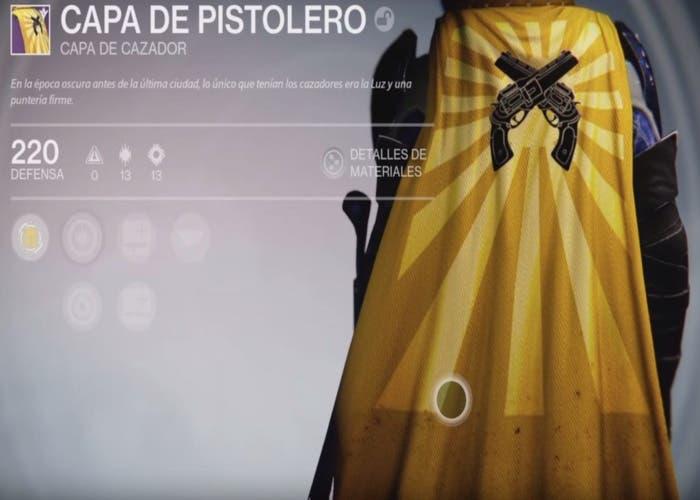 Destiny capa cazador