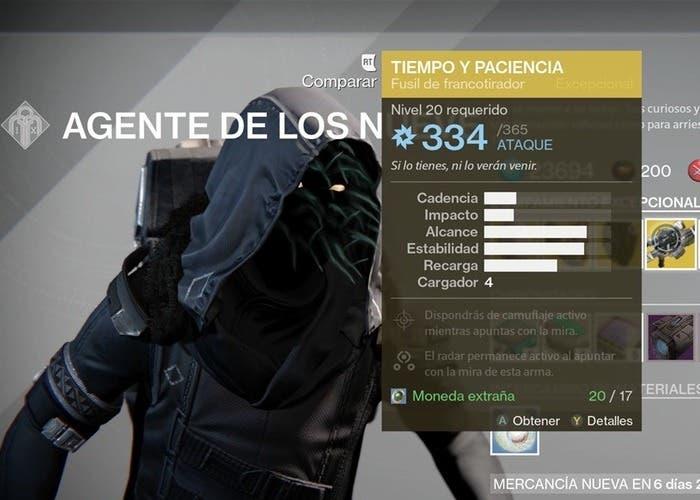 Destiny inventario Xûr 4 septiembre