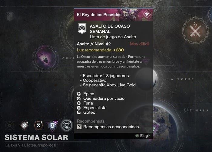 Destiny reset 22 septiembre