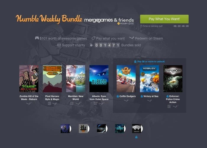 Humble Weekly Bundle Merge Games