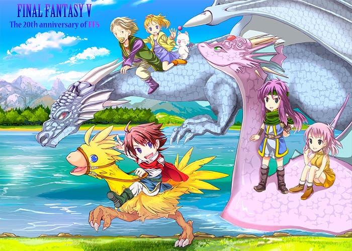 Final Fantasy V cover Steam lanzamiento