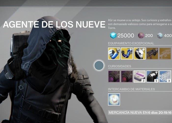 Destiny Xûr 16 octubre