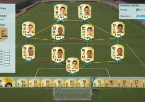 FIFA UT 16 plantilla