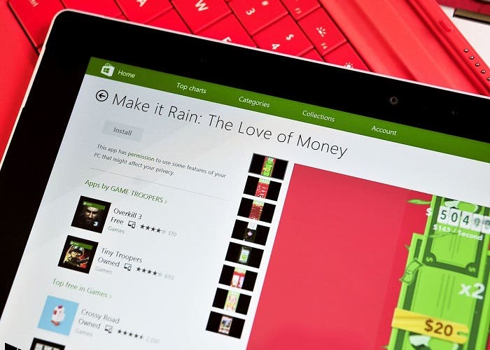 make it rain windows phone