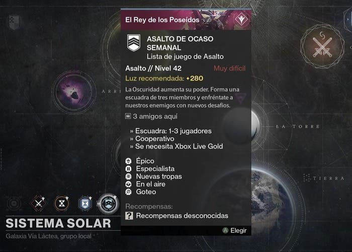 Destiny reset 3 noviembre