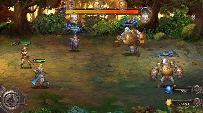 honor quest steam and magic pantalla de combate