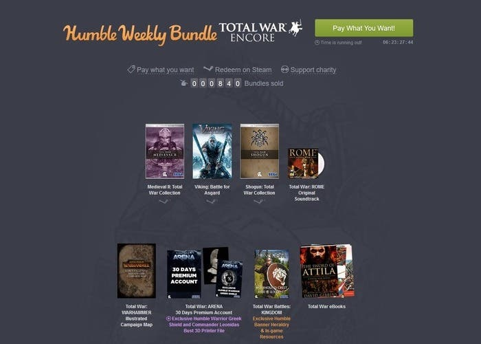 Humble Bundle Total War Encore