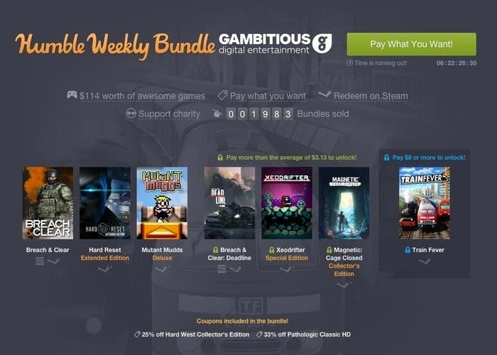 Humble Weekly Bundle Gambitious