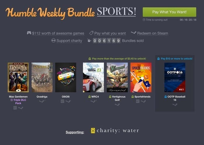 Humble Weekly Bundle sports