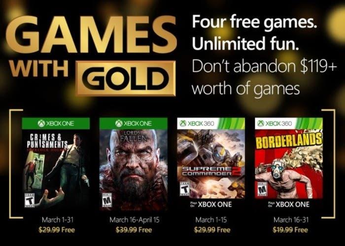 Juegos Gold Marzo