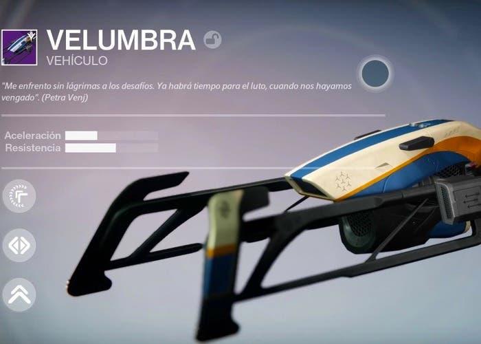 Destiny colibrí velumbra