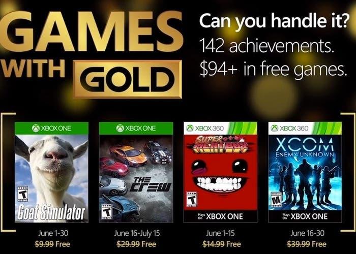 Anunciados Los Juegos Gratuitos Con Xbox Live Gold De Junio