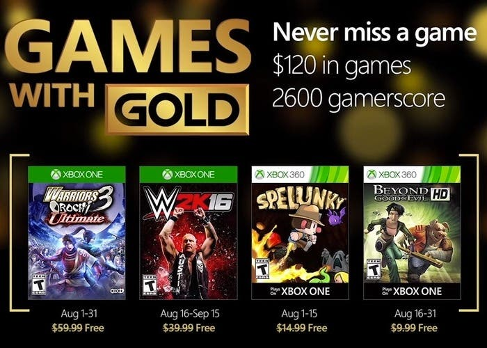 Juegos Gratis Con Xbox Live Gold