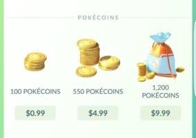 Pokémon GO monedas