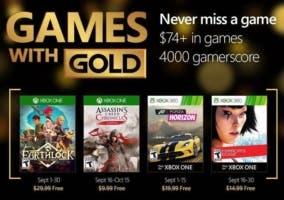 Juegos Gold septiembre 2016