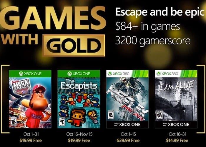 Anunciados Los Juegos Gratuitos Con Xbox Live Gold De Octubre