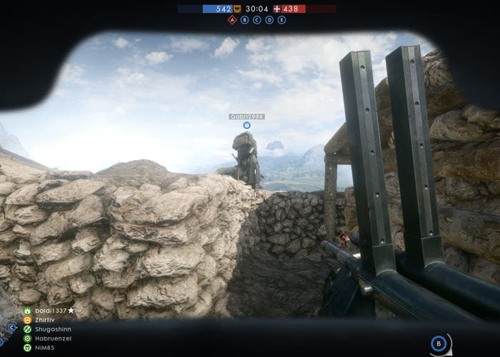 battlefield nivel clases