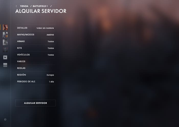 battlefield servidores parche