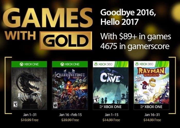 Anunciados Los Juegos Gratuitos Con Xbox Live Gold De Enero