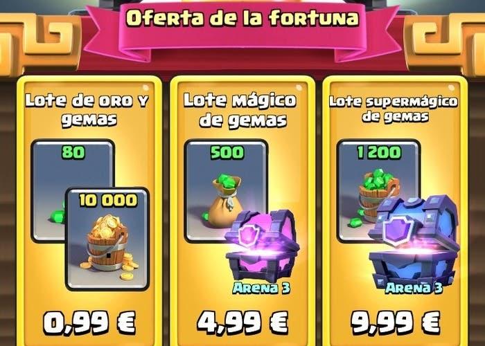 Clash royale oferta fortuna