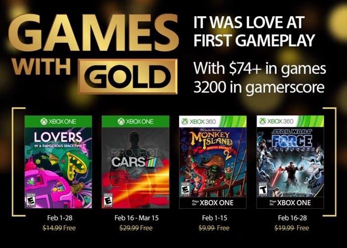 Juegos Gold febrero 2017