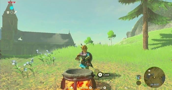 Zelda Breath of the Wild cocinar