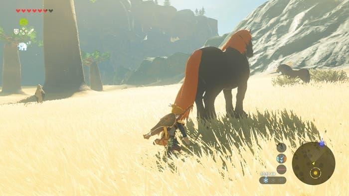 Zelda Breath of the Wild caballo gigante