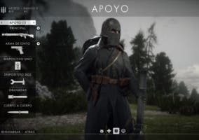 Cómo jugar con la Clase Apoyo en Battlefield 1