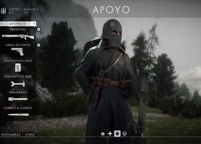 Battlefield 1 Apoyo