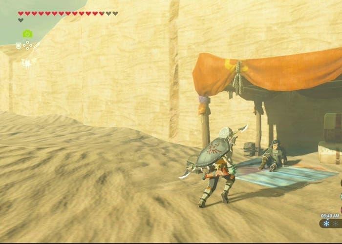 Zelda Breath of the Wild desierto