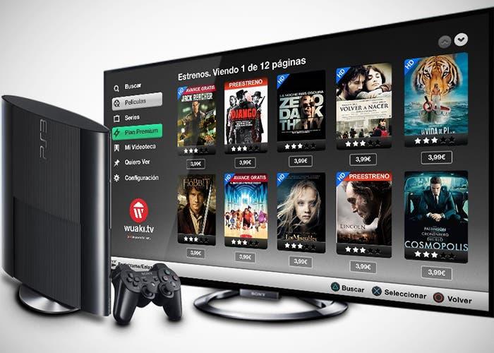 PS3 y el servicio Wuaki.tv