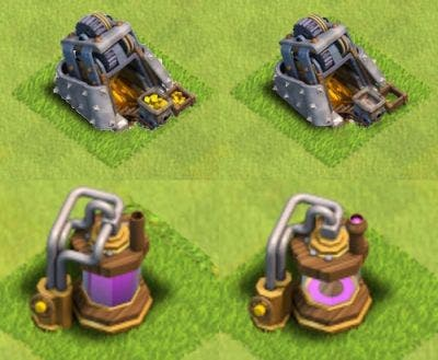 Clash of Clans Gold Mine Elixir Collector