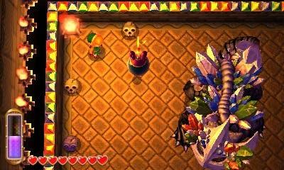 Usa bombas para romper la coraza del jefe del Templo de las Sombras